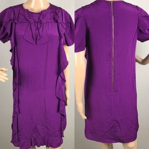 NWT See by Chloe Purple Silk dress Sz 6